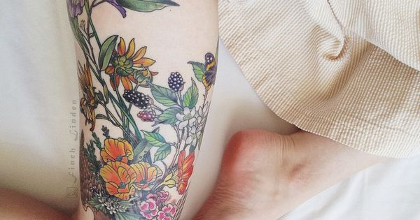 #tattoo tattoos ink inked thigh floral tattoo design tattoo patterns| http://awesometattoopicsricky.blogspot.com