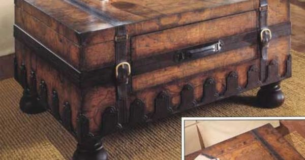Old World Map Trunk Coffee Table Trunk Coffee Tables