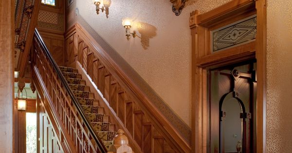 Mcdonald mansion main stair hall style architecture for Main architectural styles