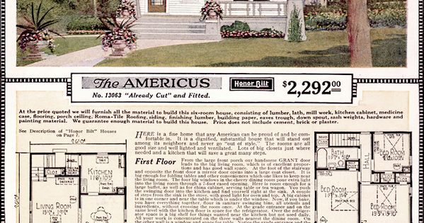 Americus - 1923 Sears Kit Homes - Artistic Eclectic Craftsman