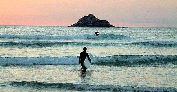 Crantock Bay, Cornwall...memories of trying to stay on the surfboard like my