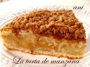 Creo Que Esta Es Una De Las Tartas De Manzana Más Ricas Que He Probado En Realidad Es Un Como Un Bizcocho Relleno De Manz Tartas Tartas Caseras Recetas Dulces