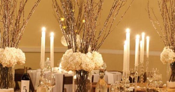 Pinterest Winter Wedding Centerpieces: Centerpiece For Rustic Winter Wedding