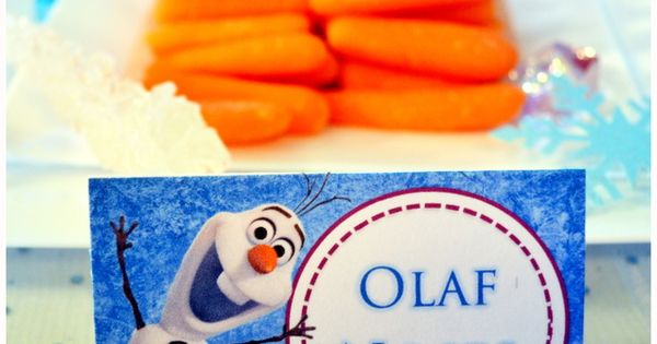 Frozen Party Food Labels With 40 Names Printable These