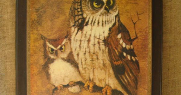 vintage home interiors and gifts paintings | VINTAGE Owls ...