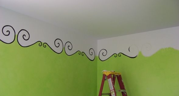 Cute paint idea for kids room