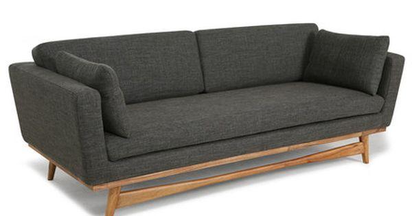 Red Edition Fifties Sofa 210 Anthracite T01 Retro Sofa Sofa Love Seat