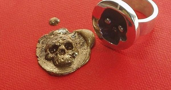 Cool skull wax seal ring. I would start writing actual letters/cards just