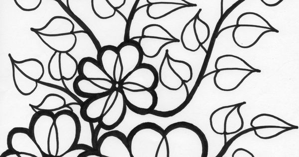 flower vines coloring page wild