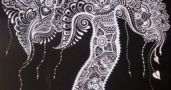 Henna Mehndi Tree : Henna mehndi tree of life canvas custom colors design