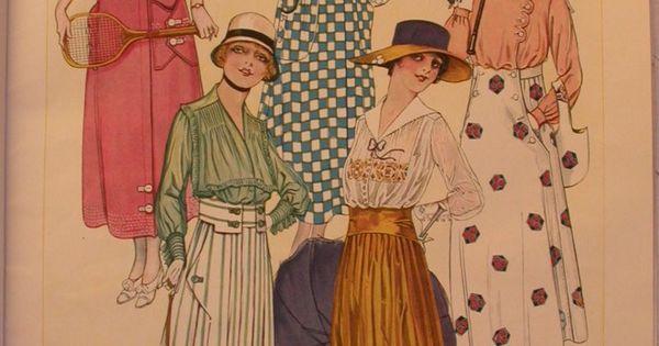 Le miroir des modes juin 1917 1910 39 s fashion for Miroir des modes prints