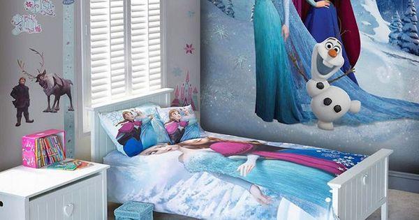 Dormitorios tem ticos de frozen para ni as decoraci n for Cuartos para ninas frozen