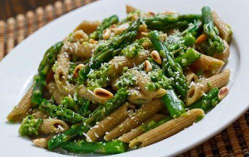 Pesto pasta, Asparagus and Pesto on Pinterest