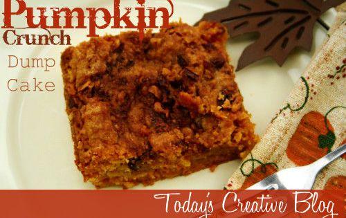 pumpkin crunch dump cake - uses yellow cake mix