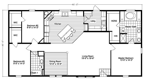 Free Mobile Home Floor Plans: Image Result For 60 X 30 Floor Plans