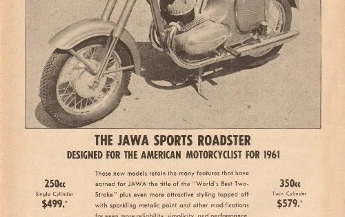 Stare Plakaty Reklamowe Jawa Roadsters Motorcycle Art Vintage