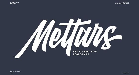 Mettars a script typeface inspired by the signature bold