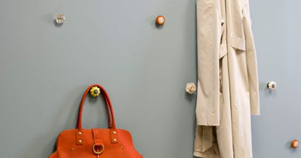 Mudroom definately want multi height hooks and knobs are Cute coat hooks