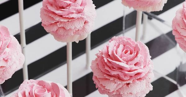 Pink Rose Cake Pops piagetrose inspiration rose pink cake pops ideas wedding