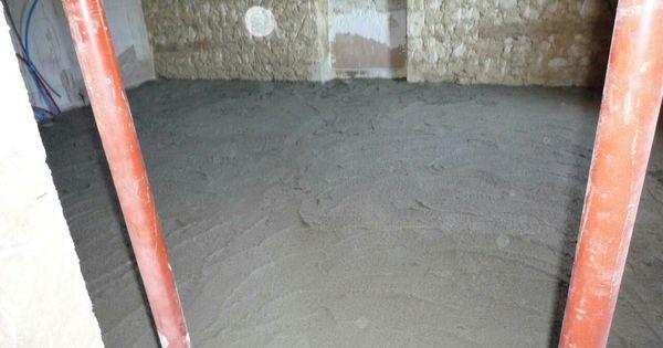Mise en oeuvre de la chape allégée isolante en bio - béton sur tout - peinture terrasse beton exterieur