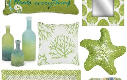 Lime Green Decor For Coastal Living At Caron 39 S Beach House