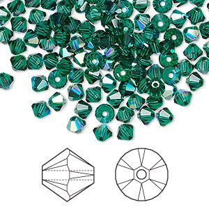5328 Birthstone MIX 48 Swarovski 4mm Xilion Crystal Bicone Beads