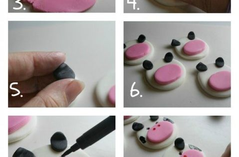 How to Make Fondant Cow Face Cupcake Toppers {Farm Animal Cupcake Toppers