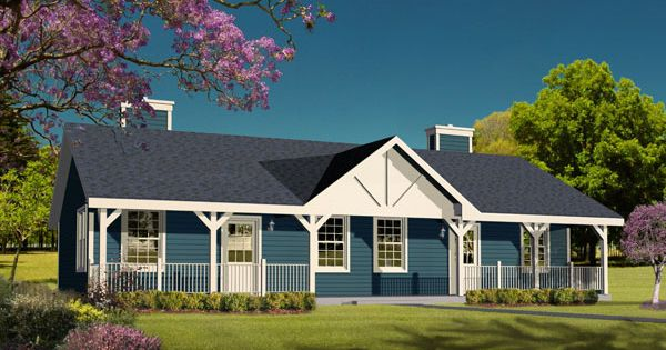 Duplex plan chp 15962 at cabins for Duplex plans for seniors