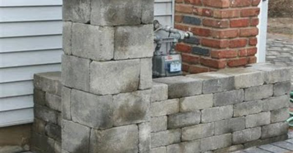 Hide Gas Meter Behind A Low Brick Wall Utility Boxes Pinterest Bricks Brick Walls And Outdoor