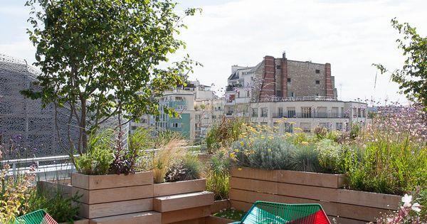 Jardin rooftop de la piscine molitor paris par le for Rooftop piscine molitor