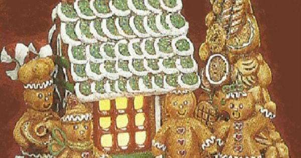 Ceramic bisque house trees and gingerbread on pinterest