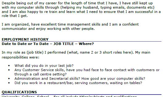 Cv Examples, Resume Builder And Helpful