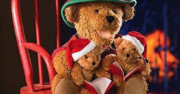 Family mama bear and my 2 baby bears the christmas page village