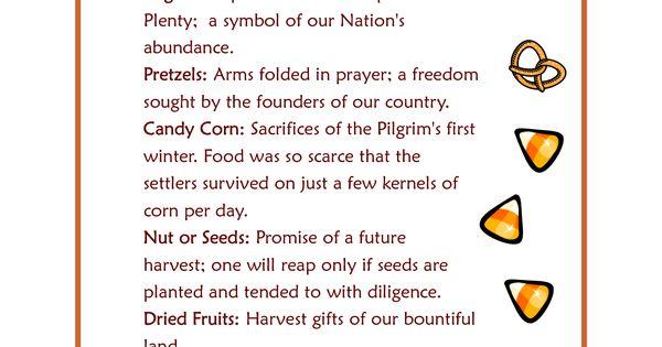Printable Candy Corn Prayer Thanksgiving Blessings Fun