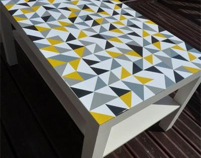 personnalisation de la c l bre table basse ikea avec des sticker id es r cup 39 pinterest. Black Bedroom Furniture Sets. Home Design Ideas