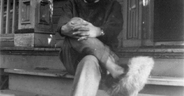 Albert Einstein wearing fuzzy slippers. One of the people I would have