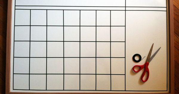Diy Locker Calendar : Diy calendar on a whiteboard clean and organize