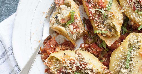 Vegan Stuffed Shells With Cauliflower Ricotta | Recipe