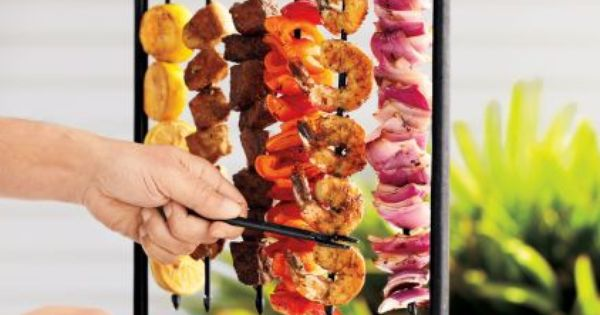 Skewer Station for BBQ.. great idea!