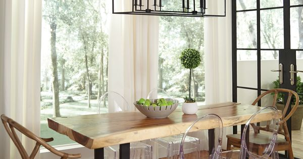 The transitional Perryton pendant light collection by