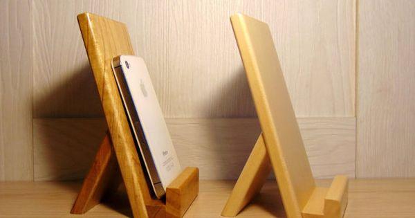 en bois bureau mount support pour portable par handmadestudioua diy pour t l phone. Black Bedroom Furniture Sets. Home Design Ideas