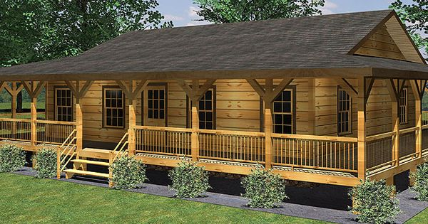 Rustic house plans with wrap around porches com for Log cabin house plans with wrap around porches