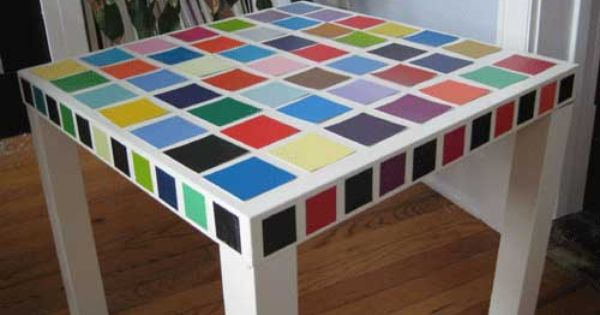 IKEA Hackers: paint chip table