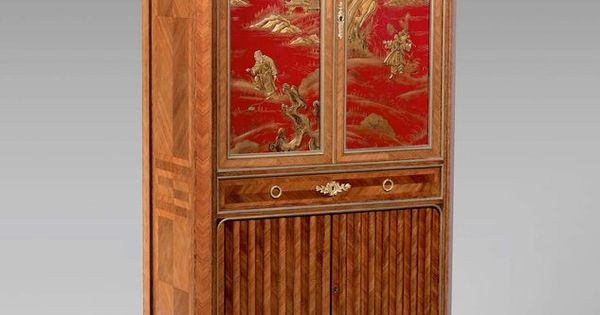 Meuble en placage de bois de rose dans des encadrements d for Meuble bois de rose