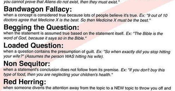 Essay on Logical Fallacies
