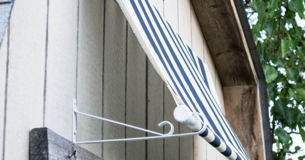 Easy Outdoor Shed Awning