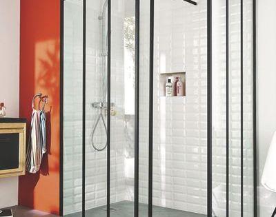 Verri re atelier deux mod les par lapeyre et castorama for Lapeyre douche italienne