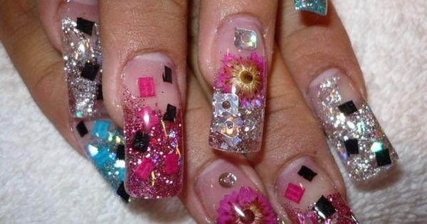 Encapsulated nails lovely nail designs pinterest for Acrylic nails salon brisbane