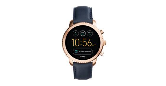Gen 3 Smartwatch Explorist Navy Leather Smart Watch Fossil Watches Watches For Men