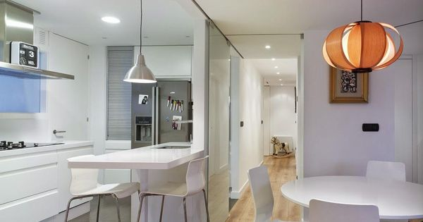 Ideas para zonas de cocina abiertas al sal n open concept kitchens and small places - Cocinas abiertas al salon ...